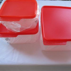 Tupperware Square Smart Saver Containers Set Of 3